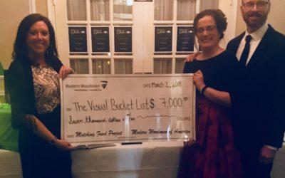 Modern Woodmen's fundraiser for Visual Bucket List nets $14K