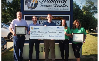Visual Bucket List Foundation Awarded $2,000 Donation from Safeco Insurance